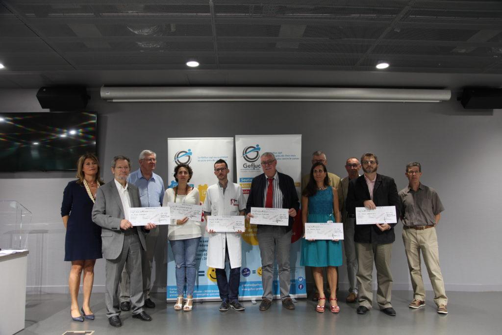 Le 18 juin 2018, le GEFLUC remet 121.599 € pour la lutte contre le Cancer
